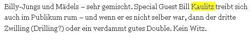 "RUMEUR: Bill au concert de ""Volbeat"" a Ludwigsburg "" 03.11.2010"