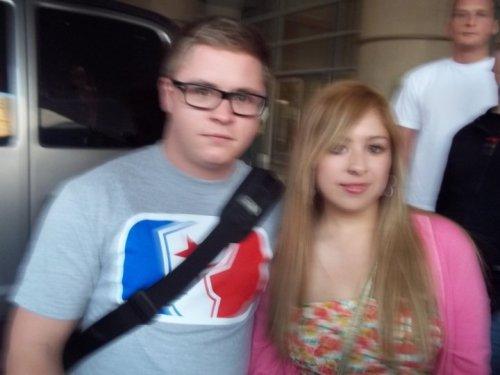 Gustav et une fan à l'hotel de Mexico, le 3 Décembre