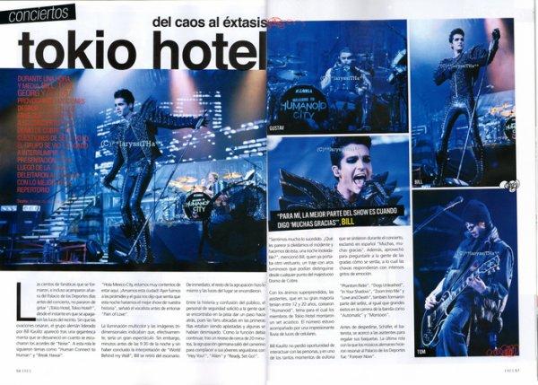 """''ERES"""" n° 518/2011 (Mexique) - Tokio Hotel : du désordre à l'extase"""