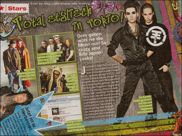 """""""Bravo"""" n° 8/2011 (Allemagne) - Totalement élégant à Tokyo !"""