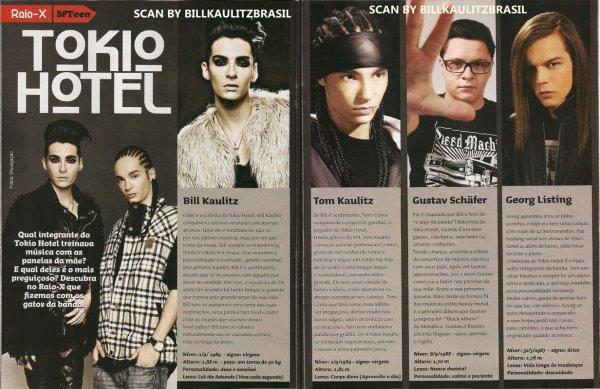 """SuperFã Teen"" n° 15 (Brésil) - Rayons x : Tokio Hotel"