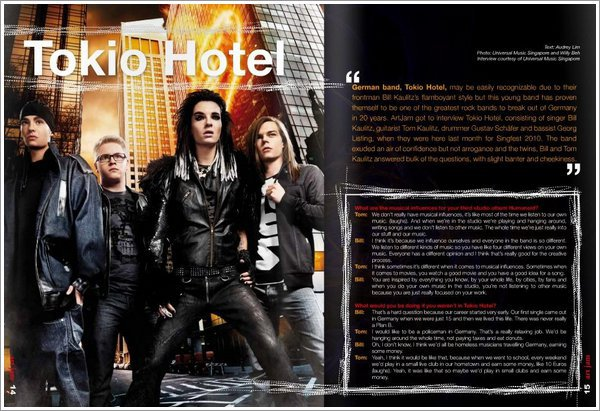"""ArtJam"" n° 22/2010 (Singapour) - Tokio Hotel"