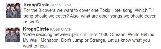 Kropp Circle vont faire un Cover sur Tokio Hotel :)