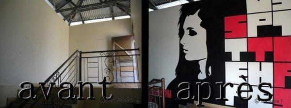 Une fan a dessiné Bill sur le mur d'une école en Indonésie :)<3