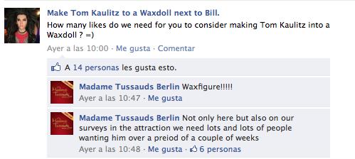 Tom au musée de Madame Tussauds?
