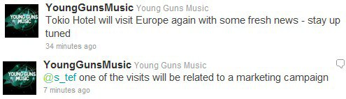 Les gars repartent bientôt en Europe... une de leurs visites sera pour une campagne marketing ;-)