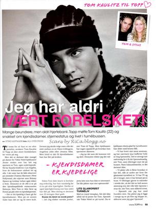 """Topp"""" n° 13/11 (Norvège) - « Je n'ai jamais été amoureux ! »"""