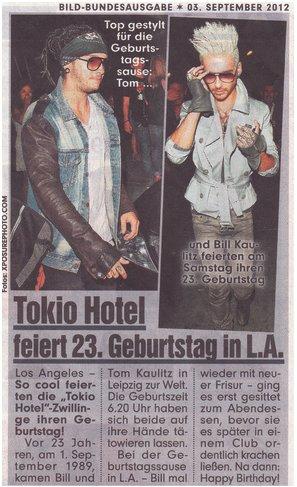 """""""BILD"""" du 3.09.12 (Allemagne)"""