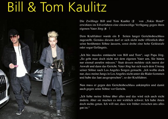 """Star Plus"" juillet 2012 (Suisse) - Bill & Tom Kaulitz"