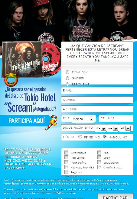 Gagnez l'album «SCREAM» autographié avec Universal Music Magazine...