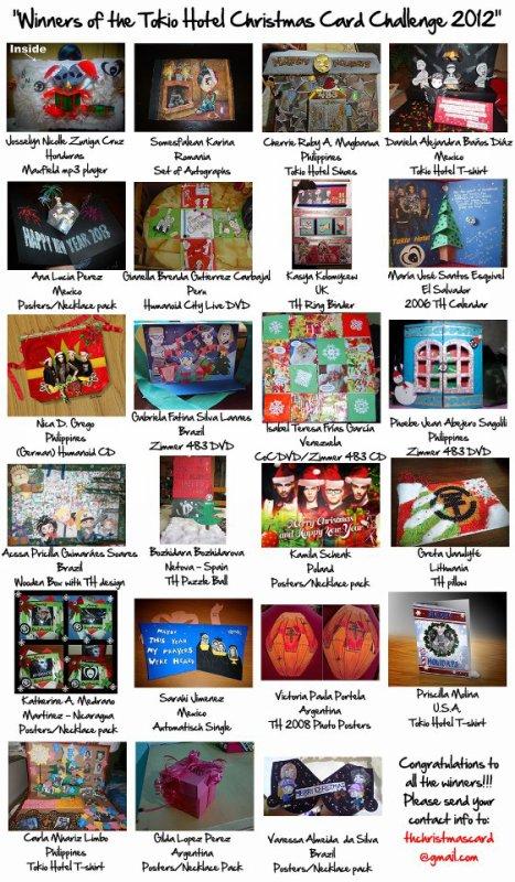 Les gagnants du Concours de Cartes de Noël :D