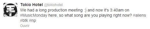 Twitter - Tokio Hotel