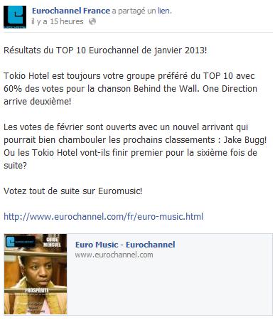 Facebook - Eurochannel France