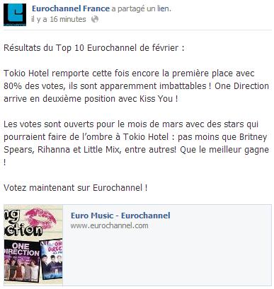 Facebook - Eurochannel France (28 Février)
