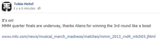 Facebook - Tokio Hotel (3 au 8 Avril)