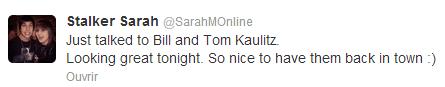 Twitter - Stalker Sarah (26 Mai)