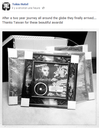 Facebook - Tokio Hotel (12 Juillet)