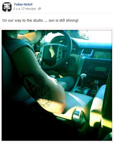 Facebook - Tokio Hotel (26 Juillet)
