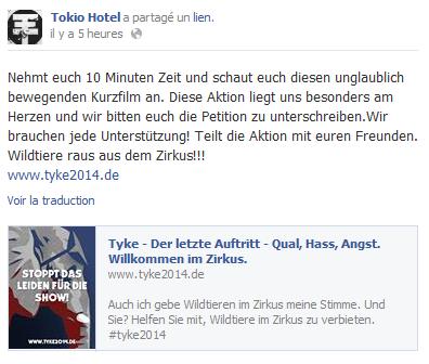 Tokio Hotel par rapport à Peta <3 !!! (28 Août)