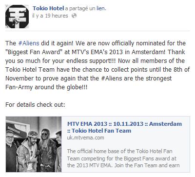 Réseaux Sociaux - Tokio Hotel