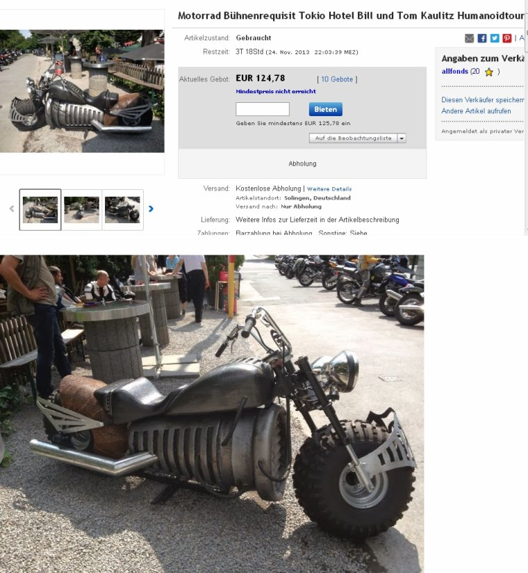 La moto du Humanoid City Tour sur Ebay.de ? O_o