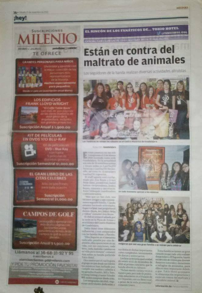 "Journal ""Milenio"" - Mexique (23.11.13)"