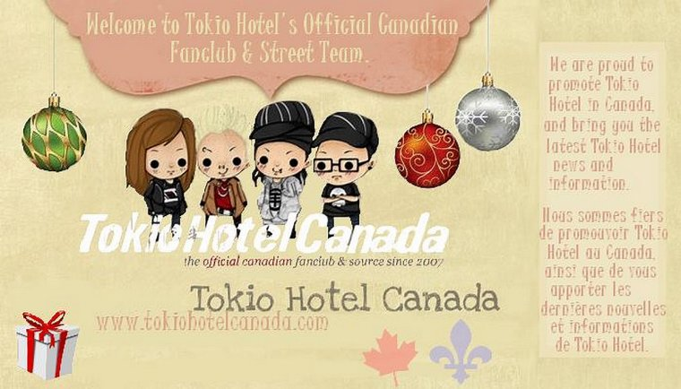 Nouveau Fan Club officiel Canadien de Tokio Hotel :D