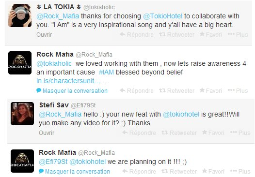 La collaboration de Tokio Hotel avec Rock Mafia