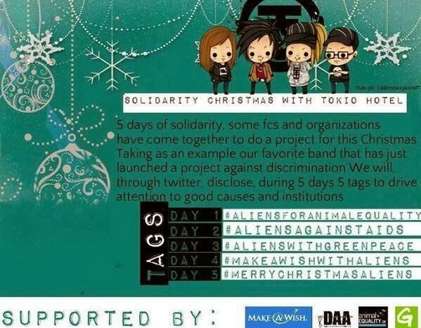 """Solidarity Christmas With Tokio Hotel!"""
