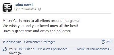 Facebook - Tokio Hotel [24.12.2013]
