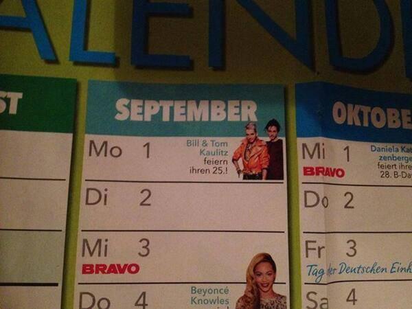 Bill & Tom dans le calendrier 2014 de Bravo :)