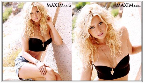 Alyson Michalka pour le magasine Maxim.