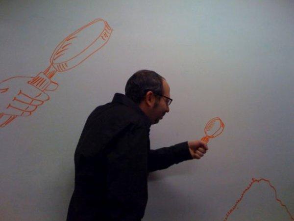 Creative whiteboard drawings