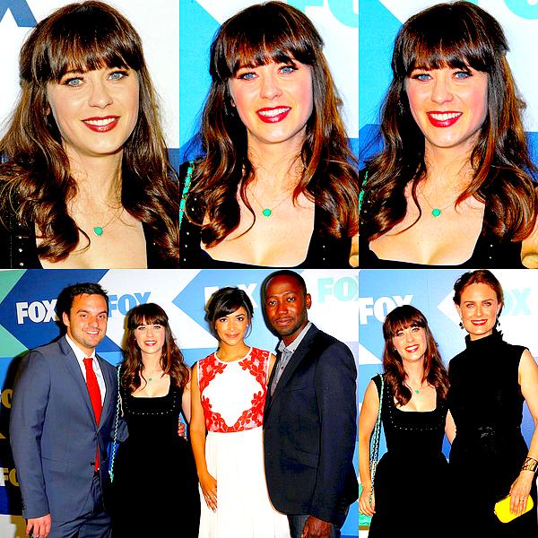 ▬ _ ▬ _ ▬ _ ▬ _ ▬ _ ▬ _ ▬ _ ▬ _ ▬ _ ▬ _ ▬ _ ▬ _ ▬ _ ▬ _ ▬ _ ▬ _ ▬ _ ▬ _ ▬ _ ▬                  RATTRAPAGE DES NEWS  EVENT //             Le 13/05 : Zooey s'est rendue à un évènement de la chaîne FOX en compagnie du cast' de New Girl