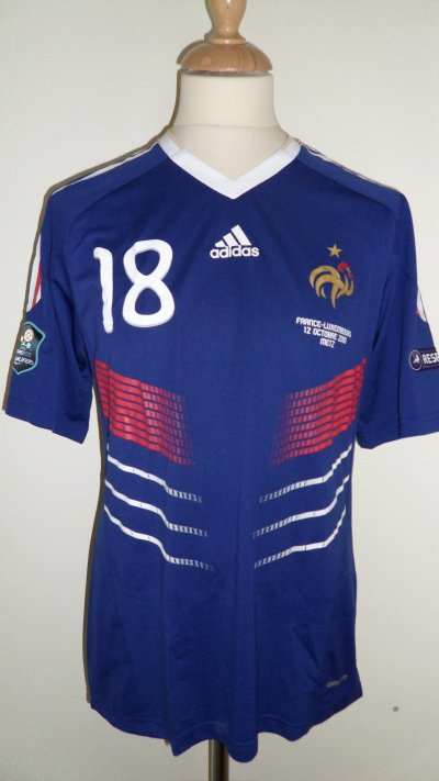 Maillot FRANCE DIARRA  qualif euro 2012
