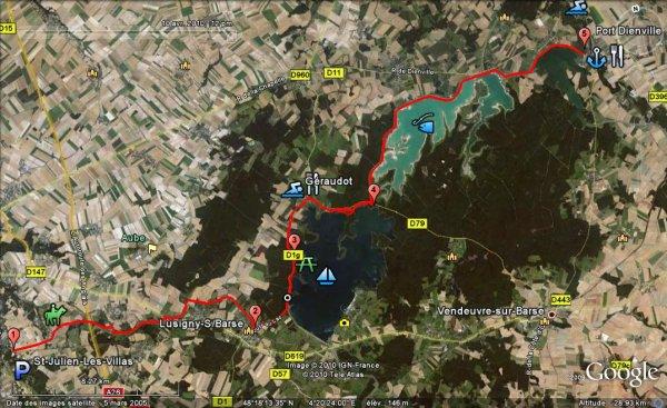 Samedi 04 août 2012, NOUVEAU RECORD absolu sur les 88km de la vélovoie de Troyes: 3h10' à près de 28kmh de moyenne.