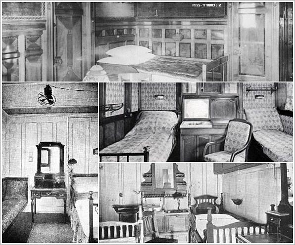 Les Cabines de 1ère classe du Titanic !