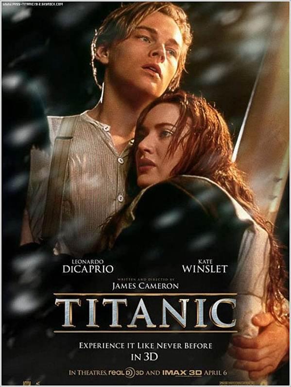 Il y as quelques jours, l'affiche de Titanic 3D est enfin sortie !