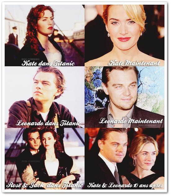 """. _Rubrique : 10 ans après """" Titanic """" ! . Ils ont bien changer nos deux héros, mais ils sont toujours aussi beaux qu'il y a 10 ans ! :D ."""