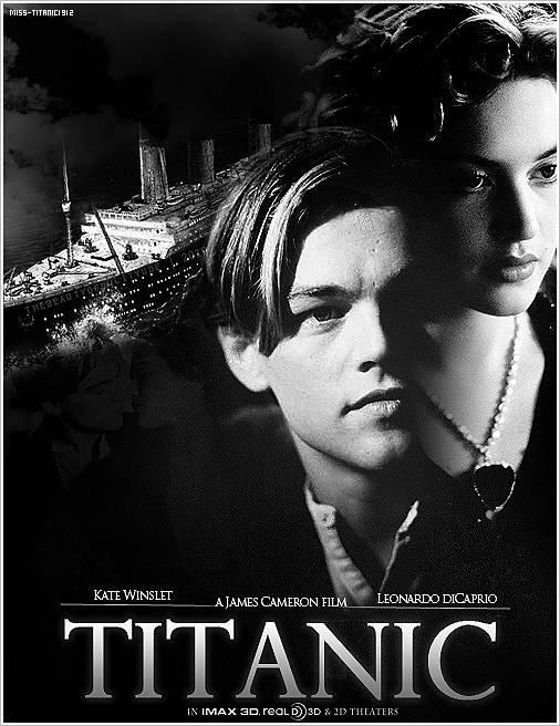 Voici, une nouvelle affiche du prochain Titanic 3D.