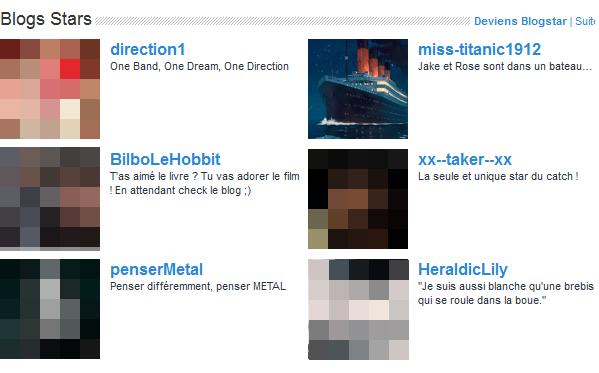 Blog star depuis le 15 Avril 2012, merci !!