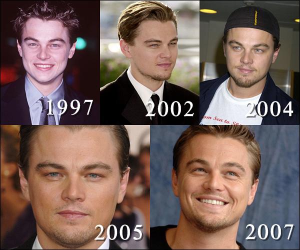 Voici, l'évolution de Leonardo DiCaprio (mon homme *.*) dans le temps !