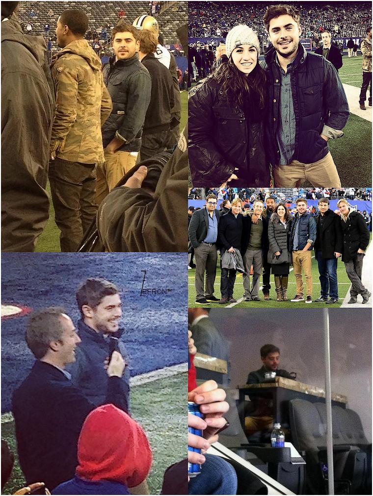 © ZEfron™  09.12.2012  -  Zac assistant au Match de Football Américain de l'équipe des Giants dans le New Jersey.