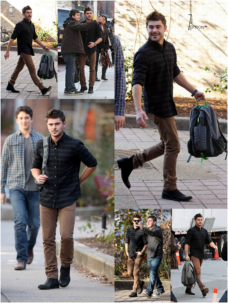 © ZEfron™  15.12.2012  -  Zac et Miles Teller (co-star) ce rendant sur le tournage de We Are Officially Dating à New York.
