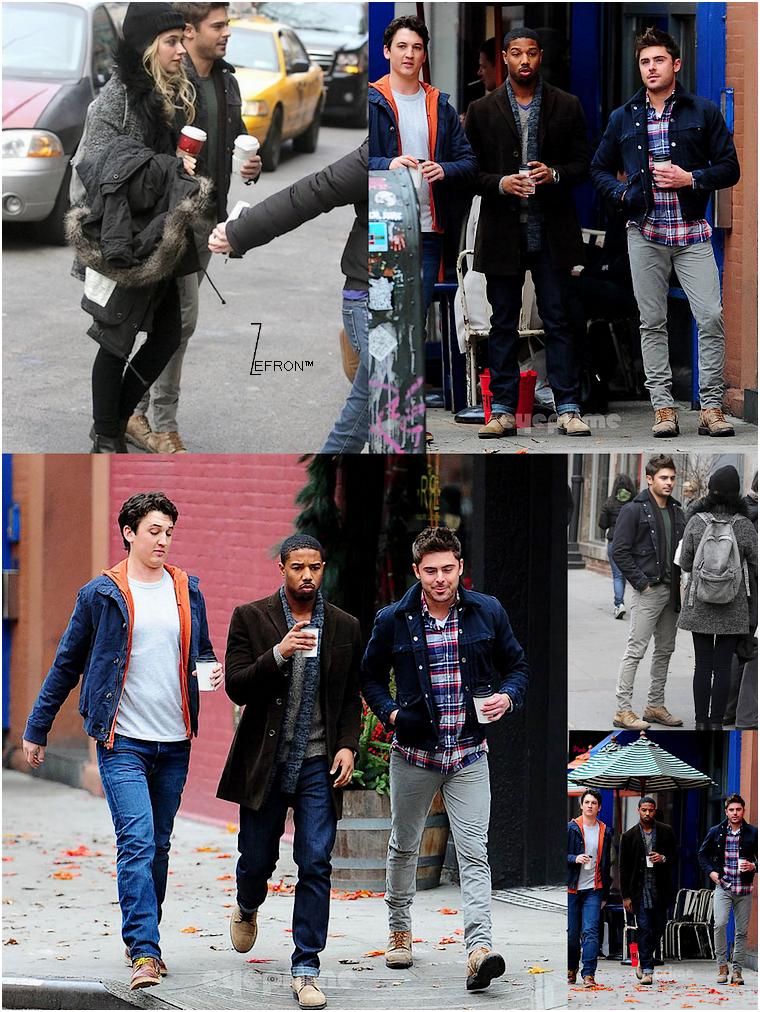 © ZEfron™  20.12.2012  - Zac et sa Co-star Imogen Poots en plein tournage d'une scéne pour le Film AWOD? à New York.  @V: J'adore cette scéne, Zac est trop sexy ahahah - @J: Le retour de Sexy Zacky :) Et j'aime déjà la complicité qu'il semble y avoir avec Imogen!