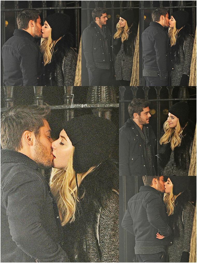 © ZEfron™  07.01.2013  -  Zac et Imogen de nouveau sur le tournage de AWOD? pour les scène de nuit à New York @J: Et un beau Kiss en prime :)