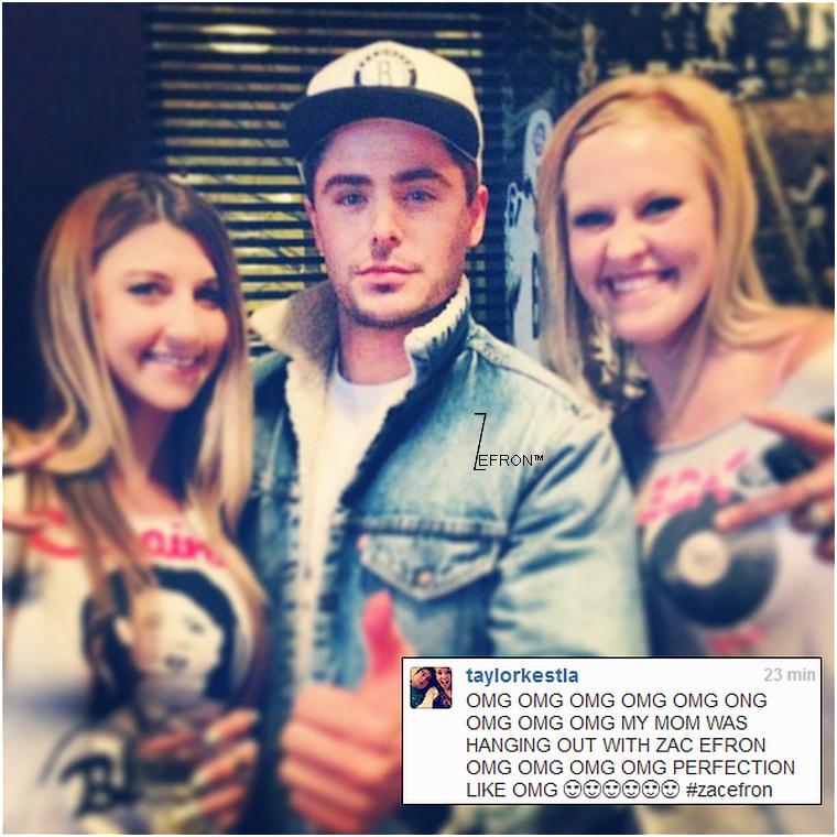 © ZEfron™  08.02.2013  - Zac prenant le temps de poser avec ses fan's après un concert à Austin, Texas.