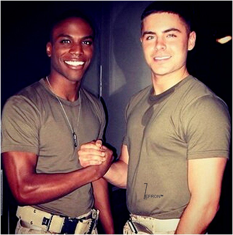 © ZEfron™  22.02.2013  -  Photos de Zac et sa costar Robert Terrell Hayes lors du tournage de The Lucky One en 2010.