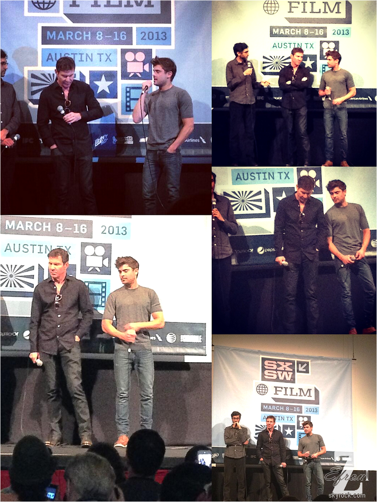 © ZEfron™  16.03.2013  - Zac Efron et Denis Quaid présent au SXSW Film Festival d'Austin, Texas. @J: De vrai news, de vrai photo, mon bonheur ^^ Espérons maintenant que le film remporte une récompense.