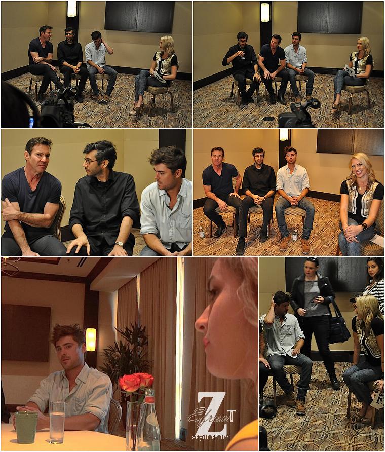 © ZEfron™  16.03.2013  - Zac Efron, Denis Quaid et Ramin Bahrani en interview avec CW Austin pour At Any Price.